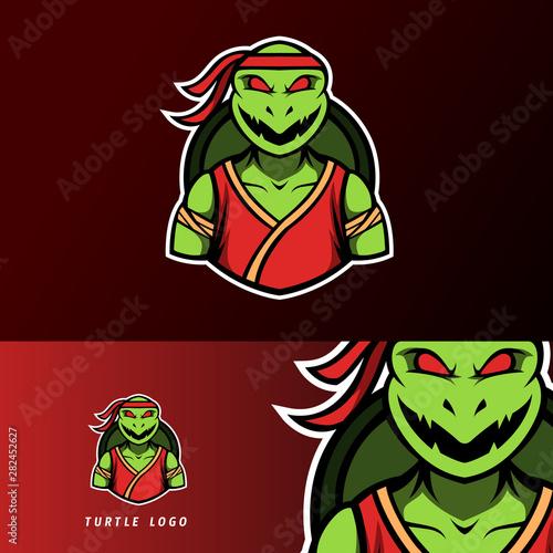 Fotografie, Obraz  angry ninja turtle mascot, sport esport logo template