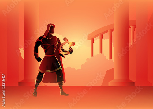 Apollo the God of music Canvas Print