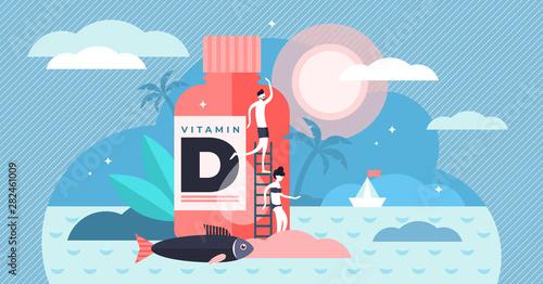 Fotografia  Vitamin D vector illustration
