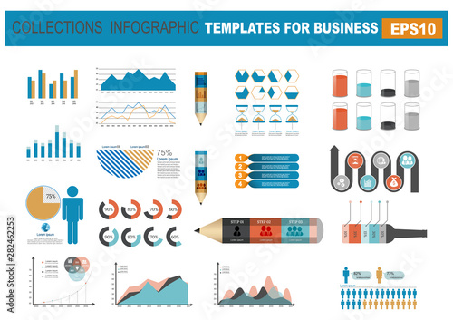 Infographics elements for business.Vector illustration Canvas Print