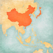 Map Of East Asia - China And J...