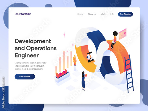 Landing page template of Development and Operations Engineer