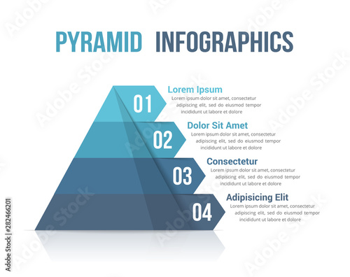Pyramid Infographics Canvas Print