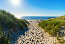 Beach Access In The Dunes Of Texel, Netherlands