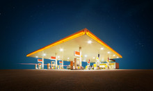 Unbranded Gas Station With Ret...