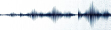 Blue Digital Sound Wave On Whi...