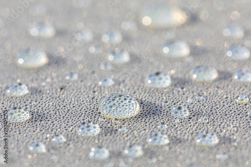 Obraz Background design made of water drops on a gray background - fototapety do salonu