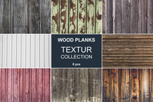 Wood Planks Texture Collection - 8 Pcs.