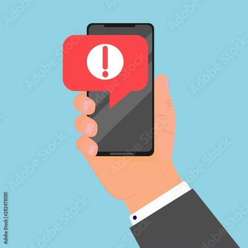 Carta da parati  Comcept of alert message mobile notification
