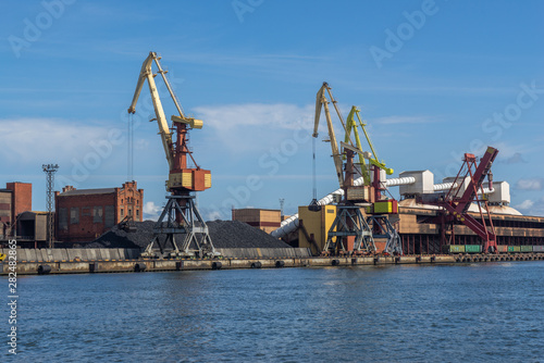 Foto op Canvas Rotterdam Berth in Ventspils