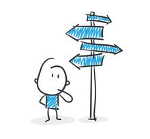 Stickman Blue: Signpost. (Nr. 18)