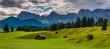 canvas print picture - Buckelwiesen im Karwendel bei Mittenwald