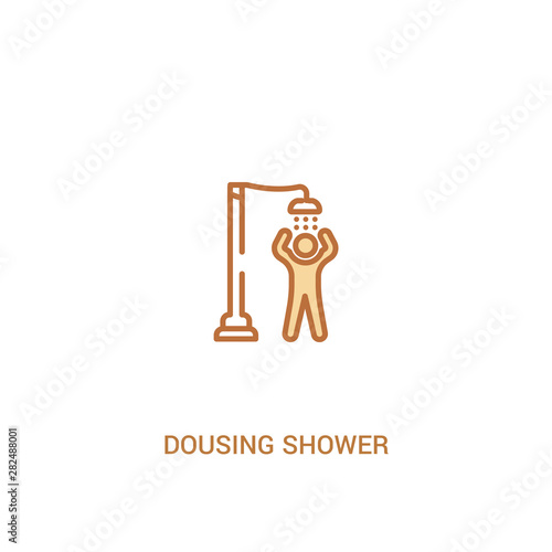 Photo  dousing shower concept 2 colored icon
