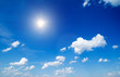 Leinwandbild Motiv blue sky with cloud closeup