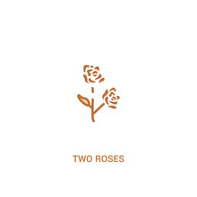 Two Roses Concept 2 Colored Ic...