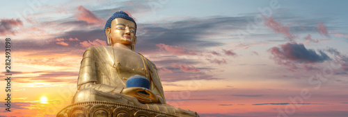Golden Buddha Wallpaper Mural