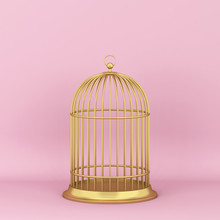 Closed Decorative Bird Cage