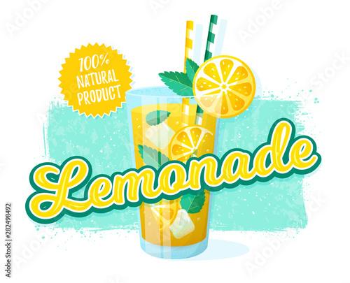 Fotografía Lemonade - vector illustration. Retro banner.