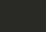 Seamless pattern Dark gold texture. Repeating geometric background of scales. Striped hexagonal mesh. Linear Graphic Design - 282501079