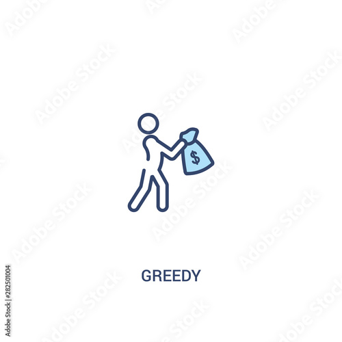 Cuadros en Lienzo greedy concept 2 colored icon