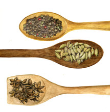 Wood Spoon With Spices