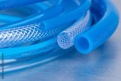 Fotografia Flexible low pressure hose close-up