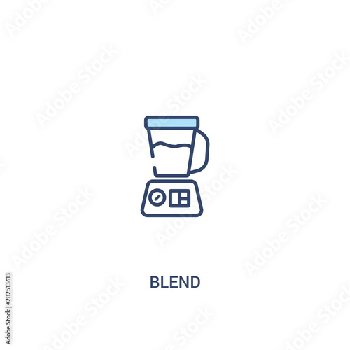 blend concept 2 colored icon Wallpaper Mural