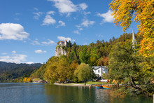 Lake Bled And Bled Castle In A...