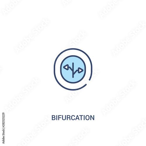 Fotografie, Tablou  bifurcation concept 2 colored icon