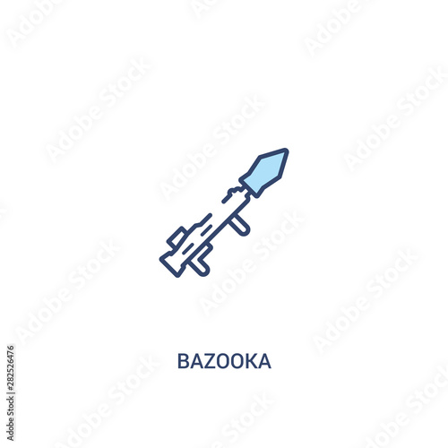 bazooka concept 2 colored icon Wallpaper Mural