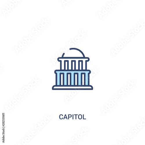 Photographie capitol concept 2 colored icon