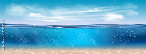 Cuadros en Lienzo  Realistic underwater background