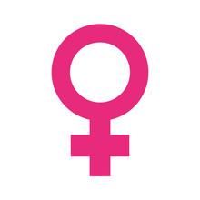 Female Gender Symbol Pop Art S...