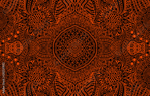 Photo Psychedelic ornamental background