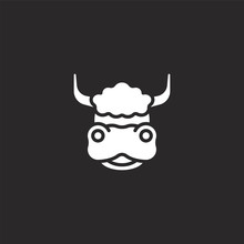 Yak Icon. Filled Yak Icon For ...