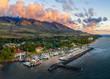 Leinwandbild Motiv Lahaina Harbor, Maui, Hawaii