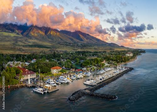 Obraz na plátně Lahaina Harbor, Maui, Hawaii
