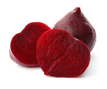 Whole And Cut Boiled Red Beets...