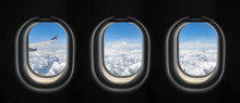 View Outside The Plane Window.