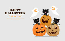 Halloween Greeting Card Concep...