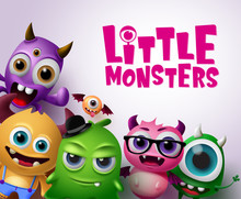 Little Monsters Vector Charact...