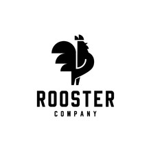 Rooster With Arrows Logo Vecto...