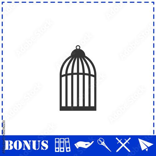 Foto op Aluminium Vogels in kooien Bird cell icon flat