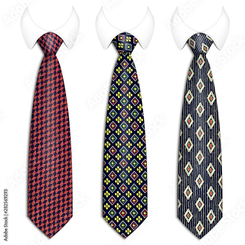 Canvastavla A set of three ties for men s suits