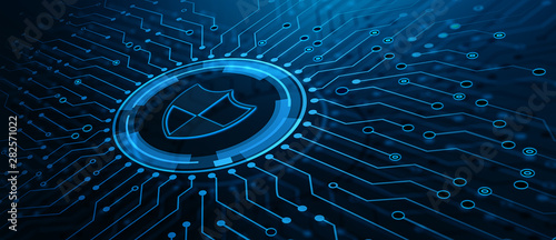 Cuadros en Lienzo  Data protection Cyber Security Privacy Business Internet Technology Concept