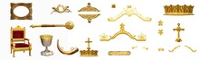 Royal Gold Antiques Collection Isolated On White Background