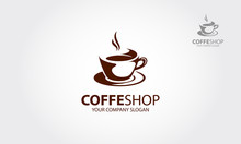 Coffee Shop Vector Logo Is A M...