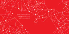 Red Geometric Connection Background