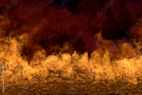 Flaming Hell On Black Background Flaming Frame With Dark Smoke Fire From Image Corners Fire 3d Illustration Buy This Stock Illustration And Explore Similar Illustrations At Adobe Stock Adobe Stock