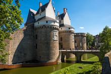 Castle Of The Dukes Of Brittany Or Chateau Des Ducs De Bretagne In Nantes, France